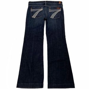 7 For All Mankind Dojo 30X30 Flare Blue Jeans
